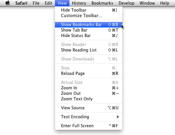 Show your bookmarks bar